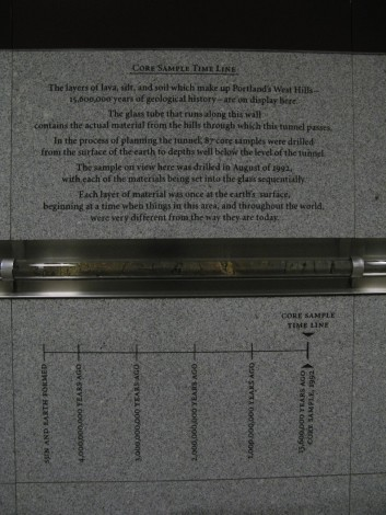 Core sample time line
