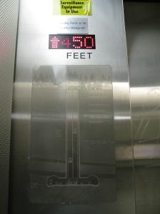 Elevator at platform level