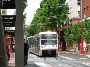 Green Line train to PSU