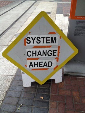 system change ahead