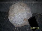 Bowling-ball sized rock