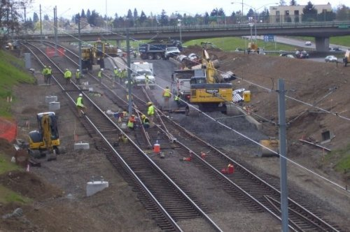 Green Line construction
